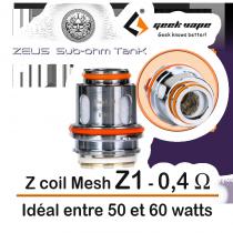 Resistance Zeus Tank Mesh Z coil - Geek Vape